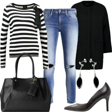Outfit Maglia a righe