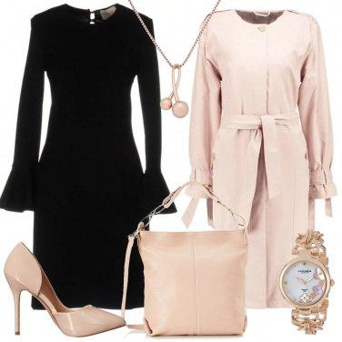 Outfit Cipria e nero