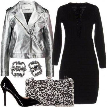 Outfit Sensuale in silver e nero