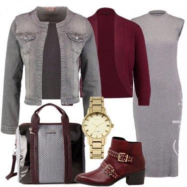 Outfit Il giacchino di jeans grigio