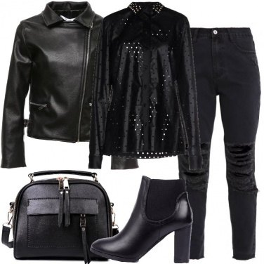 Outfit I jeans strappati