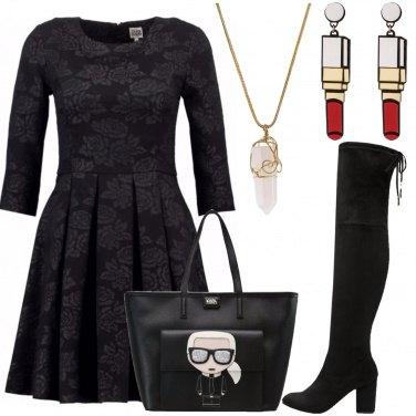 Outfit Sotto il vestito calze a rete