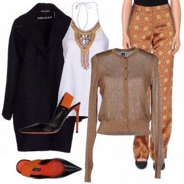 Outfit Eleganza ruggine