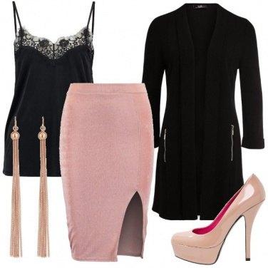 Outfit Sexy in rosa e nero
