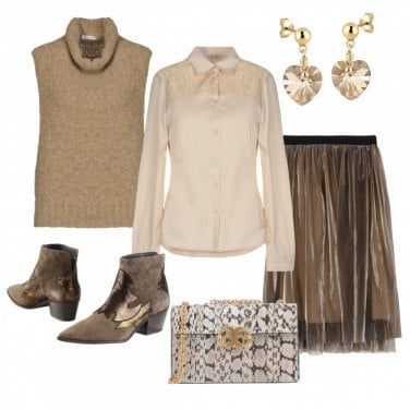 Come abbinare la maglioncino tinta unita beige: 419 Outfit