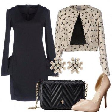 Outfit Nero e beige