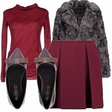 Outfit Grigio&vinaccia!