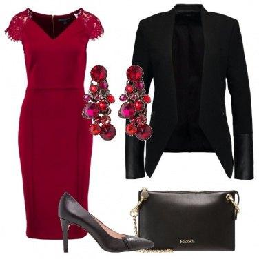 Outfit L\'eleganza del rosso e nero