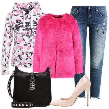 Outfit L\'ecopelliccia fluo