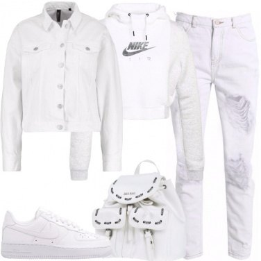 Outfit Urban total white