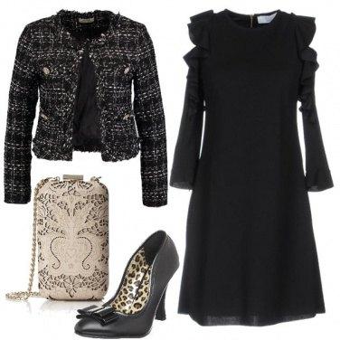 Outfit L\'immancabile vestitino nero