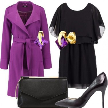 Outfit Il cappotto viola