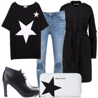 Outfit Stelle e calze a rete