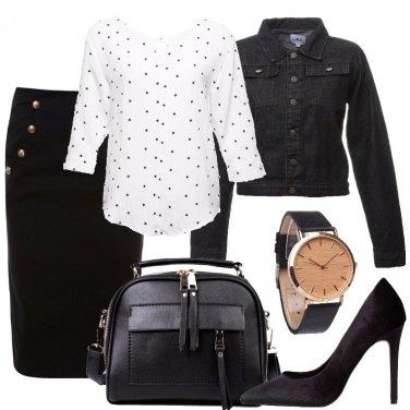 Outfit Tubino e calze a rete
