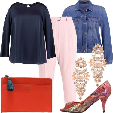 Outfit Giacca di jeans e tacco