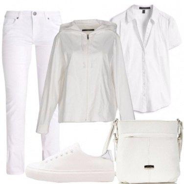 Outfit Total white per tutti i giorni