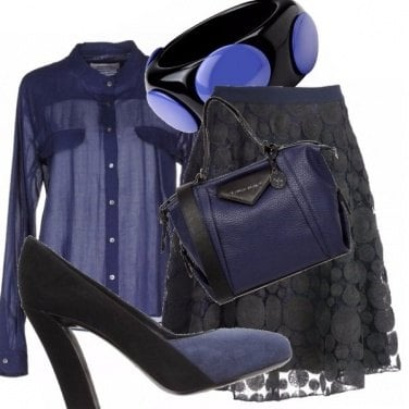 Outfit Blu navy&nero!