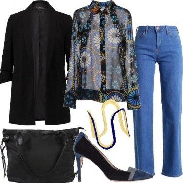 Outfit Chic di giorno in jeans