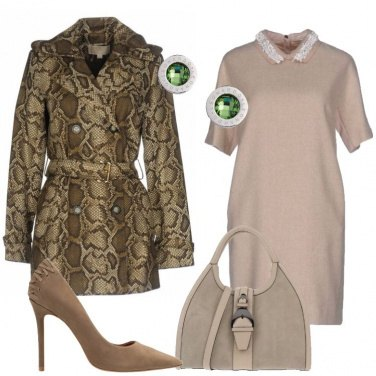 Outfit Il trench in fantasia animalier
