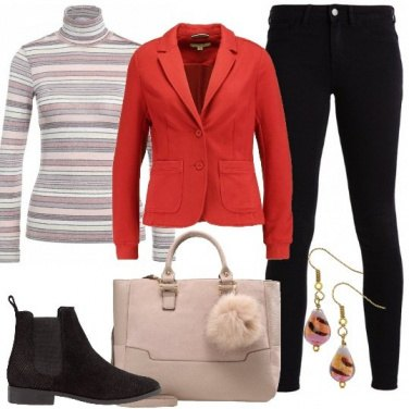 Outfit Il blazer rosso
