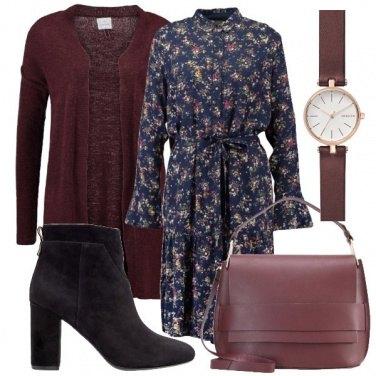 Outfit L\'abito e il bordeaux
