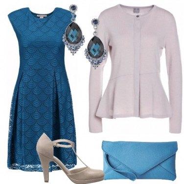 Outfit Merletto e cashmere