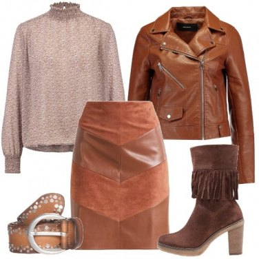 Outfit In cognac