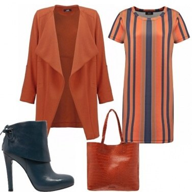 Outfit Rust elegance