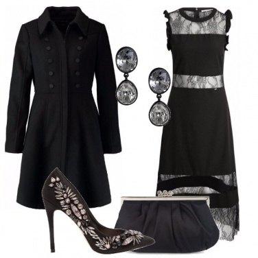 Outfit Raffinata con il nero