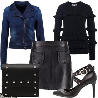 Outfit Chiodo di jeans