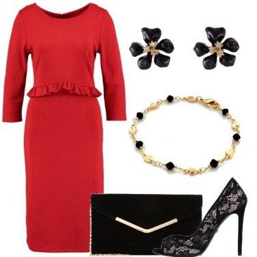 e00e871a6e56 Tubino rosso  outfit donna Chic per ufficio e serata fuori