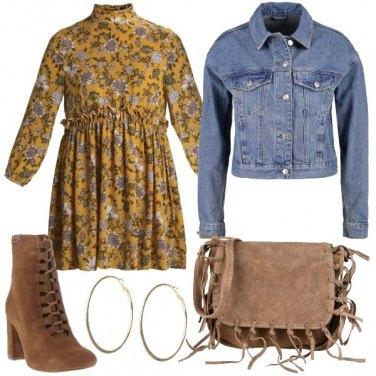 Outfit Fiori e jeans