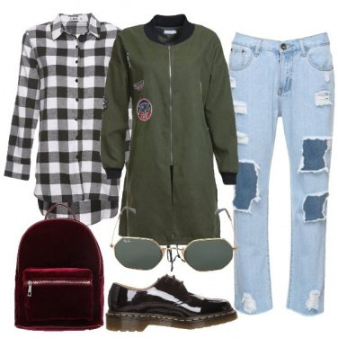 Outfit Calze a rete versione urban