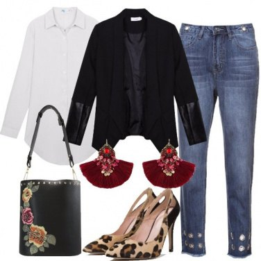 Outfit Calze a rete sporty chic