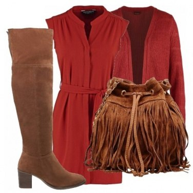 Outfit Rust&brown