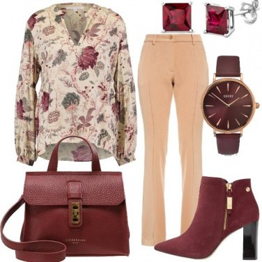 Outfit Bello il bordeaux