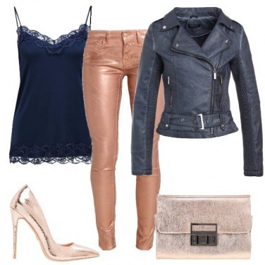 Outfit Effetto metallizzato