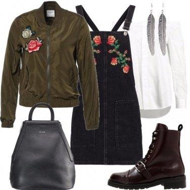 Outfit Urban con i fiori