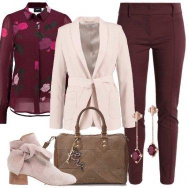 Outfit La camicia con le rose