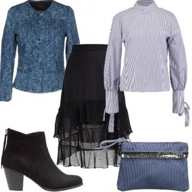 Outfit La giacca in jeans damascata