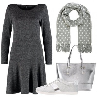 Outfit Toni di grigio