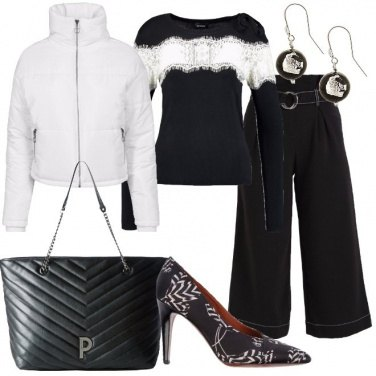 Outfit Accoppiata in bianco nero