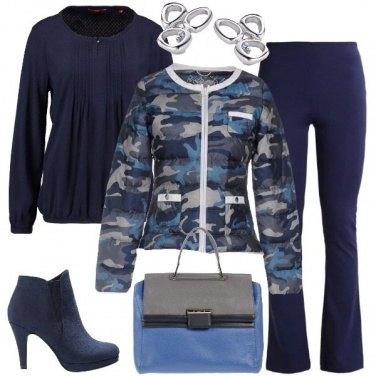 Outfit Il piumino a fantasia mimetica