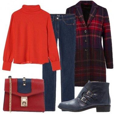 Outfit Mischiando rosso e blu