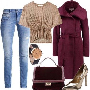 Outfit Oro e velluto