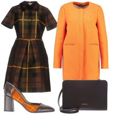 Outfit Tartan arancione