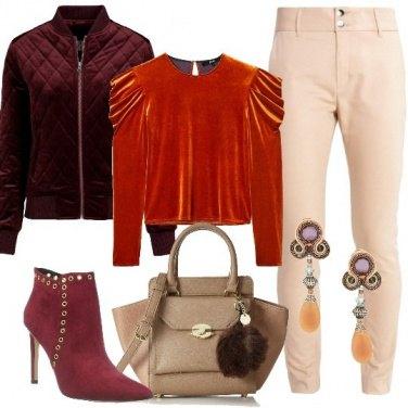 Outfit La blusa in velluto