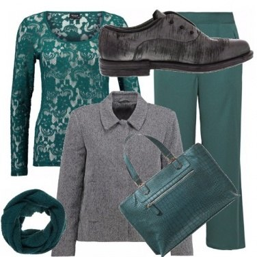 Outfit Green&gray