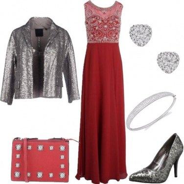 Outfit Pailettes argentate