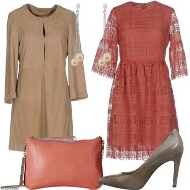 Outfit Pizzo e pelle